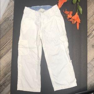 Lands End Kids size 4 white docker pants
